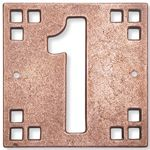 Bronze or Copper House Number Tile | Oak Park Home & Hardware