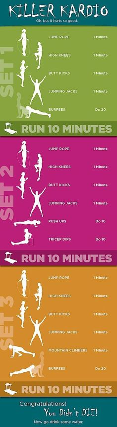 Great cardio workouts!! Got to fit this into my routines!!