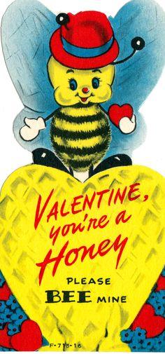Vintage Children's Classroom Valentines Day Card (064)