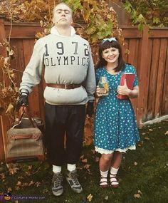 Trunchbull+and+Matilda+Costume+-+Halloween+Costume+Contest+via+@costume_works