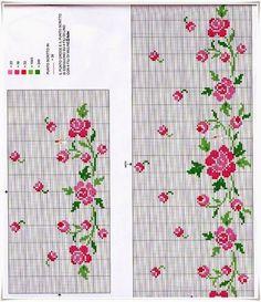 Cross Stitch Baby, Crochet Top, Bullet Journal, Clip Art, Embroidery, Flowers, Pattern, Cross Stitch Kits, Treadmills