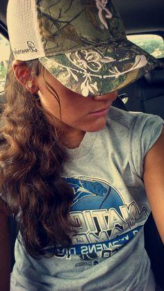 Browning camo ball cap, baseball hat, girls, country