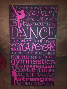 X 20 Dance Cheer Gymnastics Subway Art This is painted pine with vinyl Gymnastics Room, Tumbling Gymnastics, Gymnastics Quotes, Gymnastics Coaching, Cheer Coaches, Cheer Mom, Cheer Stuff, Team Mom, A Team