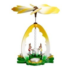 German Tea Light Candle Pyramid with 2 Bunny Easter Painters 10 Inch by My German Store, http://www.amazon.com/dp/B0096JRE3M/ref=cm_sw_r_pi_dp_D293qb050FYV1