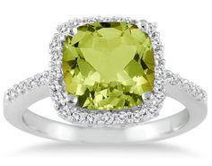 2.50 Carat Cushion Cut Peridot and Diamond Ring 14K White Gold Szul,http://www.amazon.com/dp/B005XK69C0/ref=cm_sw_r_pi_dp_gSxhsb1YAGR35VRY