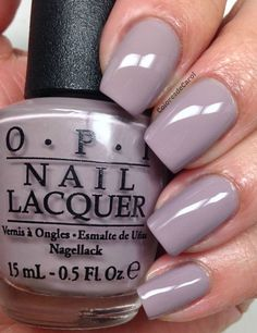 "OPI -""Taupe-less Beach"" nail polish/shellac from OPIs Brazil 2014 Collection. Beautiful light grayish taupe with light smokey grape undertones. A Seriously beautiful neutral. Love!!"