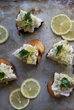 Artichoke Pesto & Lemon Ricotta Crostini
