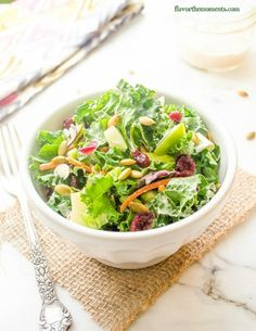 kale-slaw-with-apples-cranberries-and-creamy-maple-dressing4 | flavorthemoments.com