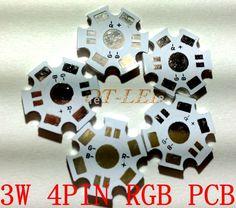 Freeshipping!20MM 3W RGB 4Pin High Power LED PCB Heat Sink Aluminum Base Plate/ Aluminum base plate/ Circuit board 100pcs/lot