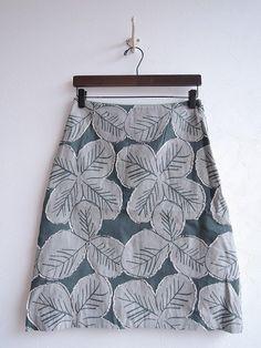 ミナペルホネン mina perhonen good luck スカート size36 (sk22-1608-55) /ナチュラル服古着通販drop