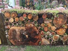 Rhs Flower Show, Porch Styles, Log Wall, Front Courtyard, Xeriscaping, Fence Art, Garden Borders, Plant Wall, Raised Garden Beds