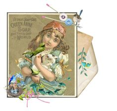 """""""Feathered Friends ❤ Victorian Needle Card"""" by catfabricsandbuttons ❤ liked on Polyvore featuring art and feathered"""
