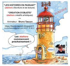 Bruno TASCON (Ecrivain Plasticien) - Ateliers Créatifs - Lorient Vannes Paris: ⏬ [Contacts]