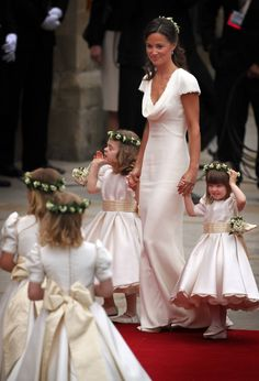 A Timeless & Beautiful Bridesmaids Look - Ivory Dresses Pippa Middleton and the dress that started it all