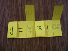 Slope-Intercept (y=mx+b) foldable. Simple and brilliant! | Math = Love Blog