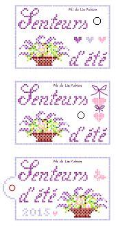 3 ATC étiquette senteurs d'été visuel