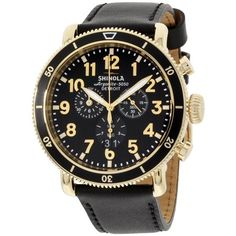 3ff07e1f4 Shinola The Runwell Sport Black Dial Black Leather Strap Men's Watch  20044138, Size: 48