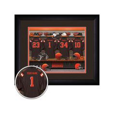 Officially Licensed NFL Personalized Framed Locker Room Print - Browns