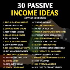 My favorite is Dividend Paying Stocks, what about you? ———————————————— 🔥 Check out the link in bio for business opportunities 💻 —————————— Atm Business, New Business Ideas, Business Money, Business Tips, Online Business, Business Entrepreneur, Business Opportunities, Finance, Sharing Economy