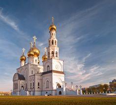 Spaso-Preobrazhensky Cathedral. Abakan. Siberia. Russia.