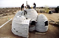 Nader Khalili, Cal-Earth, Superadobe, earth architecture, sand bags, barbed wire, earth, housing crisis, disaster proof design, resilient design, disaster proof home
