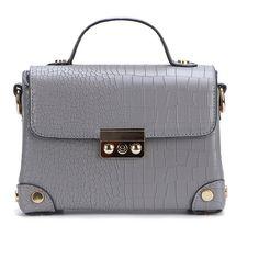 Yoins Grey Shoulder Bag (110 BRL) ❤ liked on Polyvore featuring bags, handbags, shoulder bags, grey, shoulder bag purse, gray purse, grey shoulder bag, shoulder bag handbag and grey purse
