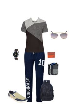 Exclusive Look by Nipa Analog Watches, Beige Shoes, Blue Sunglasses, Brown Wallet, Black Backpack, Wallets, Track, Socks, Backpacks