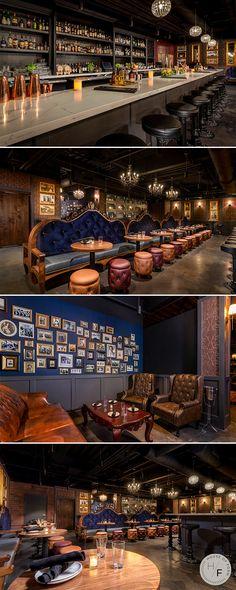 Cocktail Bar Interior, Home Cocktail Bar, Cocktail Bar Design, Bar Interior Design, Commercial Interior Design, 1920s Bar, Speakeasy Decor, Urban Bar, Brewery Design