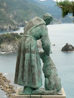 St. Francis & the wolf, Monterosso,Cinque Terra, Italy