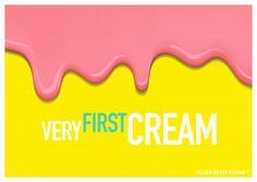 Very first cream | Denglisch | Echte Postkarten online versenden…