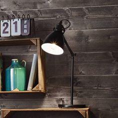 PRIDDY - Lampe à poser Métal Noir H42,5cm Eglo