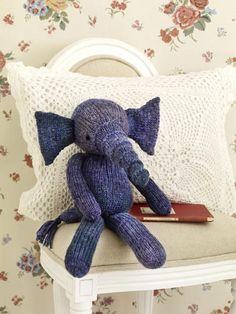 Kuscheltiere stricken: Elefant mit Strickanleitung