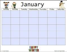 Blank Planning Calendar  Blank Calendar    Planning