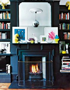 black mantel and surround | elle decor south africa