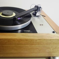 "A Thorens but not as you know it! Fitted with The Wand tonearm and an exotic Phasmation cartridge, owner Tim says it ""sounds fantastic! Diy Turntable, Family Show, Wands, Exotic, Design, Walls, Fairy Wands, Sticks"
