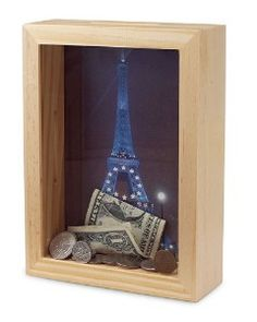 """Dream Bank. Visualize your future savings... mission, toy, vacations with pictures of those """"dreams""""!! Shadow box wall hangings!!"""