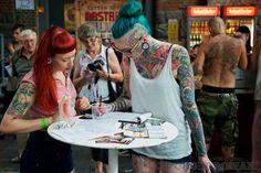 Pic from Tattoo Convention Berlin 2013. More photos: https://www.facebook.com/media/set/?set=a.653526734660453.1073741831.167277106618754=3