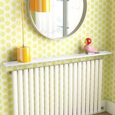 Zipcode Design Benajah Radiator Cover & Reviews | Wayfair.co.uk Cube Shelves, Wall Mounted Shelves, Hanging Shelves, Display Shelves, Floating Wall, Floating Shelves, Large Radiator Covers, Radiator Shelf, Shelf Design