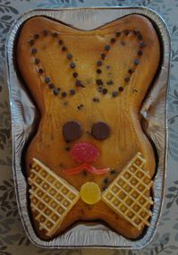 Traditional Italian Easter cake.