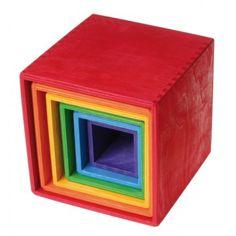 """Cubos Apilables de Madera """"Arcoíris"""""""
