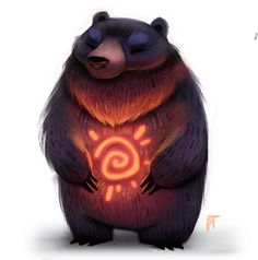 Day 567. Sun Bear by Cryptid-Creations.deviantart.com on @deviantART