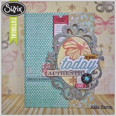 Sizzix Die Cutting Tutorial | Today Journal Book by Aida Haron