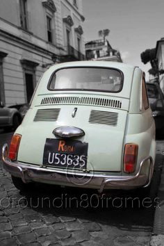 Vintage Car in Rome Italy 8x10 Print Travel by aroundin80frames, $25.00