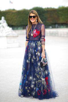 Anna Dello Russo in Valentino   - HarpersBAZAAR.com