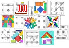 Remue Méninge: Reproduction de figures sur papier pointé Pixel Art, Cycle 3, Geometry Pattern, Legos, Projects To Try, Kids Rugs, Draw, Quilts, School