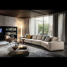 Hamilton is a seating system with a simple design, composed of fixed sofas which allow an original and fully project design. #minotti #furniture #furnituredesign #sofa #fabric #leather #bedroom #living #architecture #interior #home #design #couch #style #beirut #lebanon