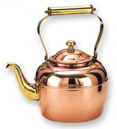 Bright copper kettles
