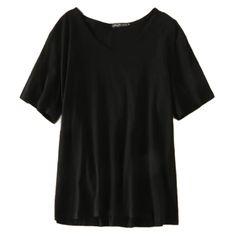 2017 new summer and the wind are all-match female U T-shirt collar half sleeve loose cotton slub thin coat
