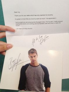 WAT can I send theo a letter ???!!! ~Divergent~ ~Insurgent~ ~Allegiant~