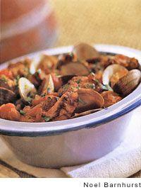 Portuguese Pork with Clams Recipe | Leite's Culinaria  Also know as Pork alentjana. Staple in Portuguese cuisine